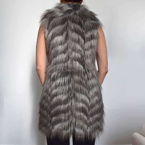 Rachel Zoe Marianne II Faux-Fur Vest Back