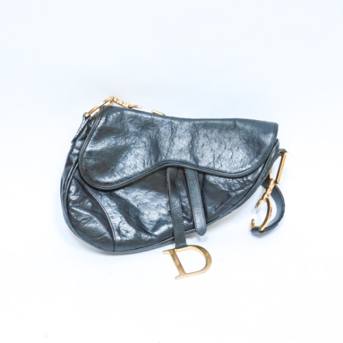 Christian Dior Ostrich Saddle Bag 2