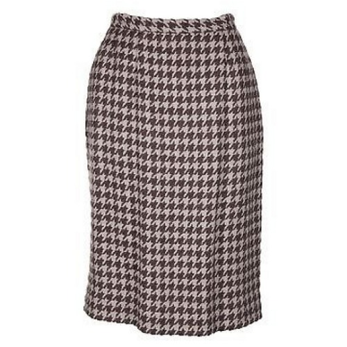 Vintage Christian Dior Houndstooth Skirt Suit 4
