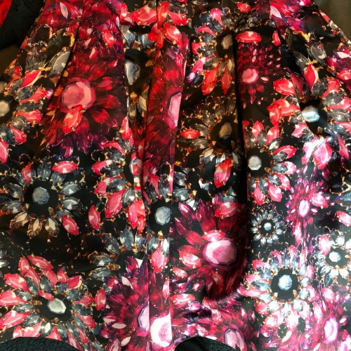 Ted Baker Floral A-Line Skirt Up Close