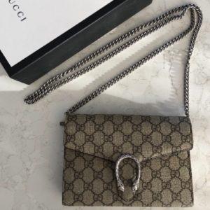 DesignerShare Gucci Dionysus GG Supreme Bag - Front