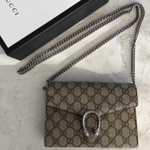 8b0bb958902 DesignerShare Gucci Dionysus GG Supreme Bag - Front
