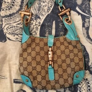 e8210e82202 Gucci Monogram Piston Lock Jackie O Hobo Turquoise. From: $60.00. Lent by  Maggie Lefevour · DesignerShare MARC by Marc Jacobs Domo Biker Leather  Backpack ...
