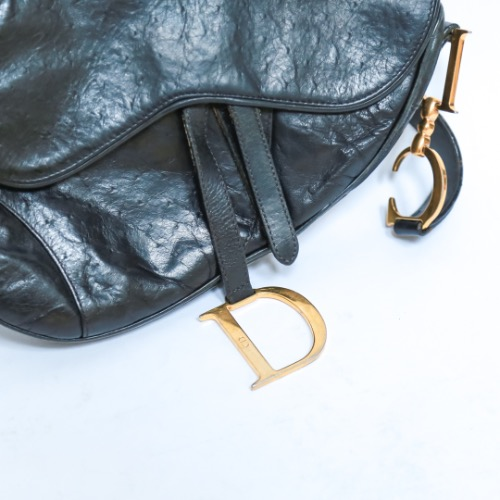 Christian Dior Ostrich Saddle Bag 3