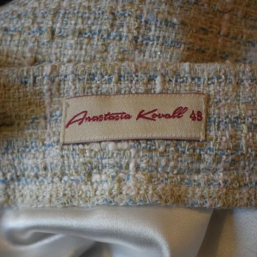 Anastasia Kovall Beige Skirt Suit Tag