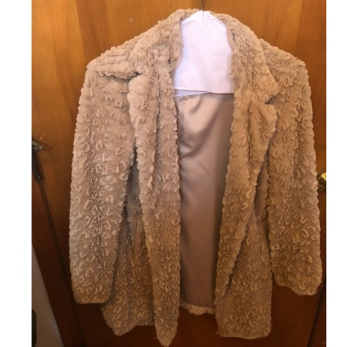 Kenneth Cole Faux Fur Teddy Coat Front