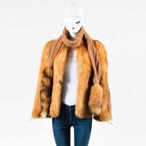 Valentine Furs Red Fox Knit Scarf and Coat