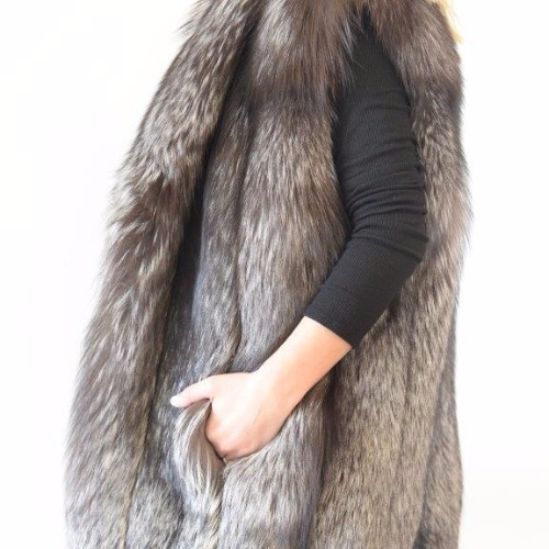 Michael Kors Fox Fur Vest Side