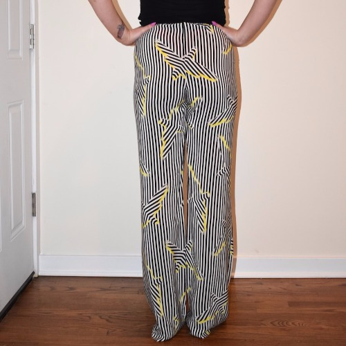 Sass & Bide Wide Leg Striped Pants Back