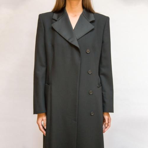 Emporio Armani Floor Length Trench Coat Close Up