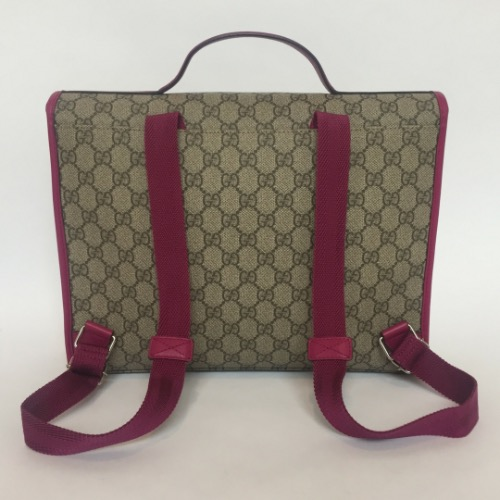 DesignerShare Gucci Monogram Canvas Briefcase Backpack - Back