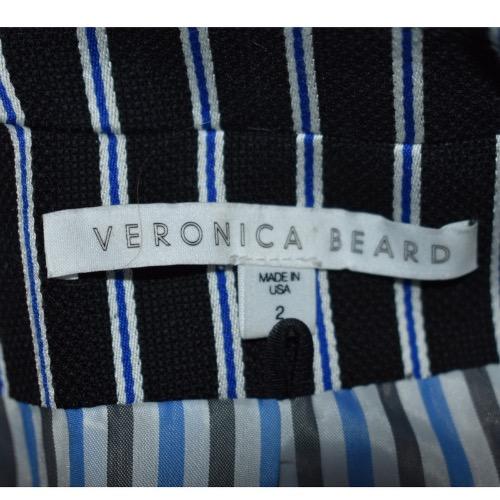 Veronica Beard Spirit Striped Blazer Tag