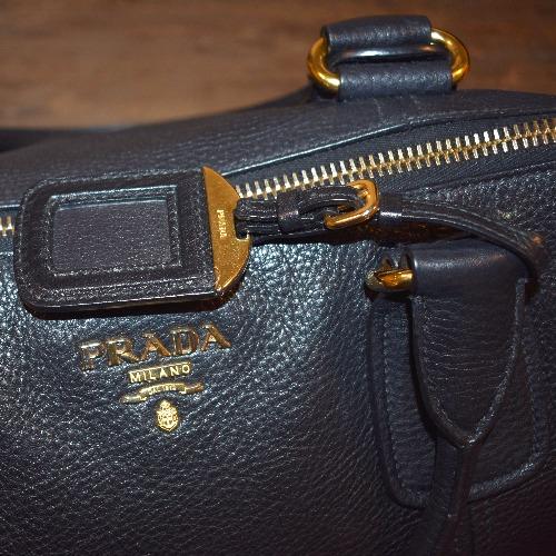 Prada Vitello Daino Large Shopper Bag - Detail