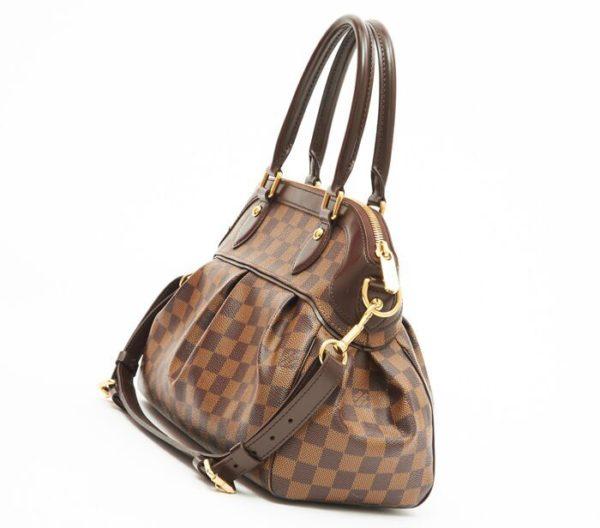 DesignerShare Louis Vuitton Damier Canvas Trevi PM Bag - Side