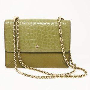 546fedb4b728 Tory Burch Robinson Crocodile-Embossed Convertible Shoulder Bag