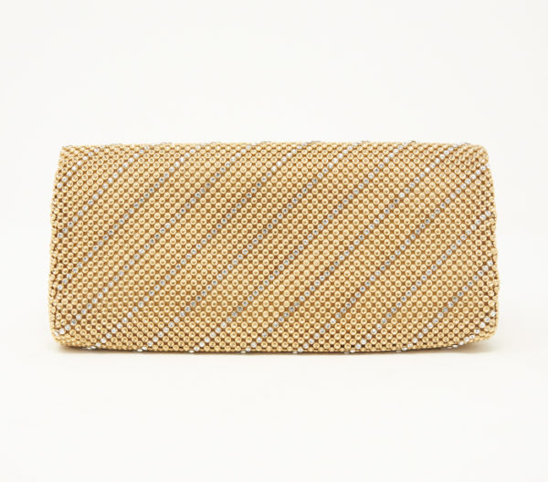 Whiting & Davis Crystal Chevron Clutch 4