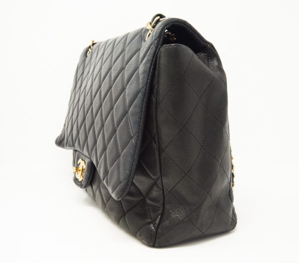 Chanel Lambskin Quilted Classic Single Maxi Flap Bag 2