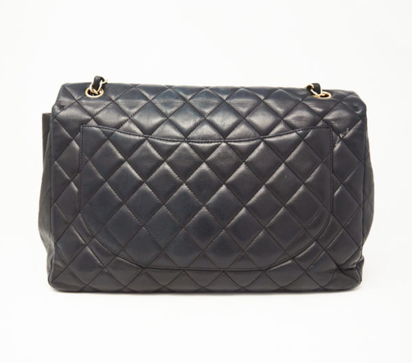 Chanel Lambskin Quilted Classic Single Maxi Flap Bag 4