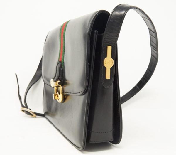 DesignerShare Gucci Black Leather Crossbody - Front