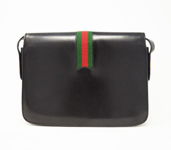 Vintage Gucci Black Leather Crossbody 4