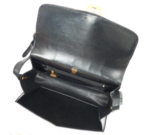 Vintage Gucci Black Leather Crossbody 2