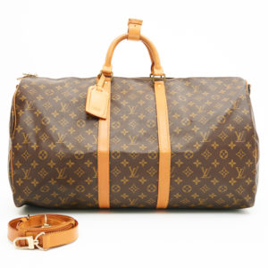 9278f068963c Louis Vuitton Monogram Canvas Leather Keepall 55