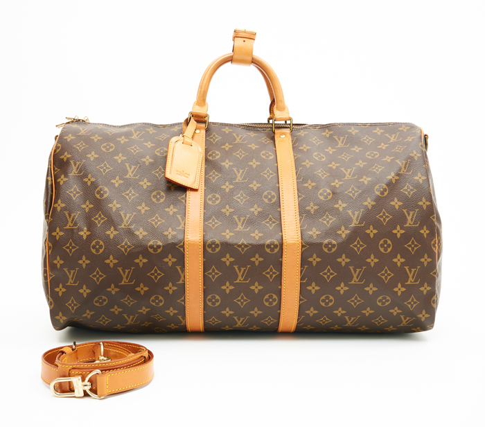 1c32f86aeb87 Louis Vuitton Monogram Canvas Leather Keepall 55 – DesignerShare
