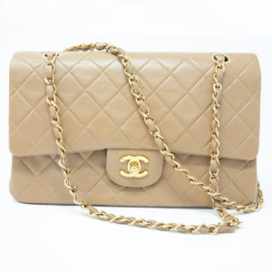 Chanel Beige Classic Flap Medium