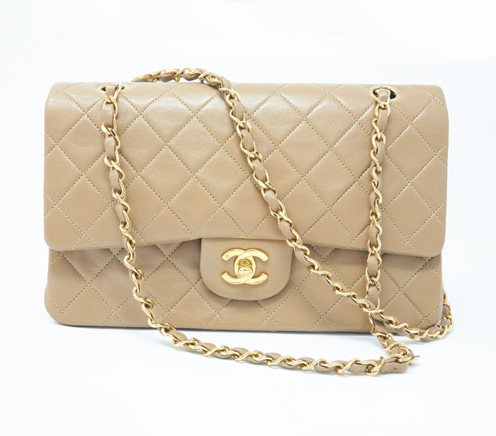 f2a7e0a31f2d Chanel Beige Classic Medium Flap Bag – DesignerShare