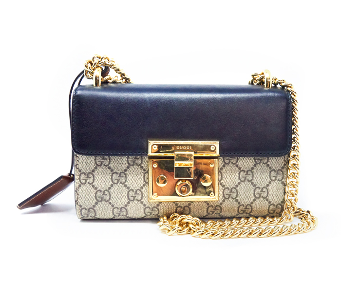 82c7db06db82b Gucci GG Supreme Monogram Small Padlock Shoulder Bag – DesignerShare