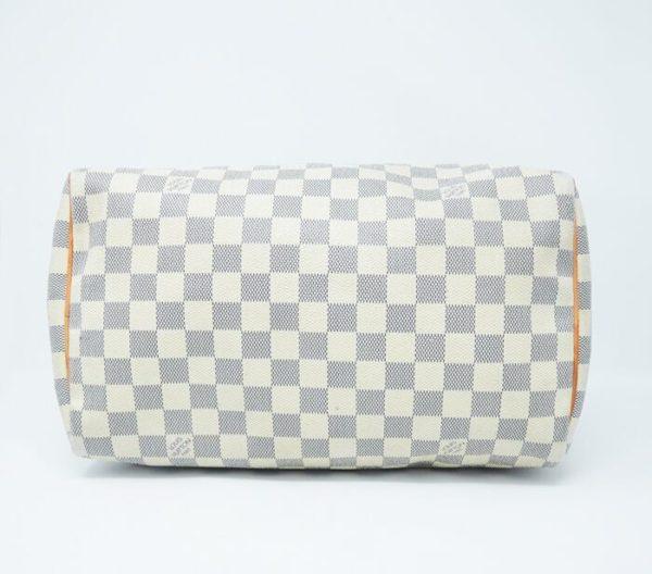DesignerShare Louis Vuitton Damier Azur Speedy Bandouliere 30 Tote - Bottom