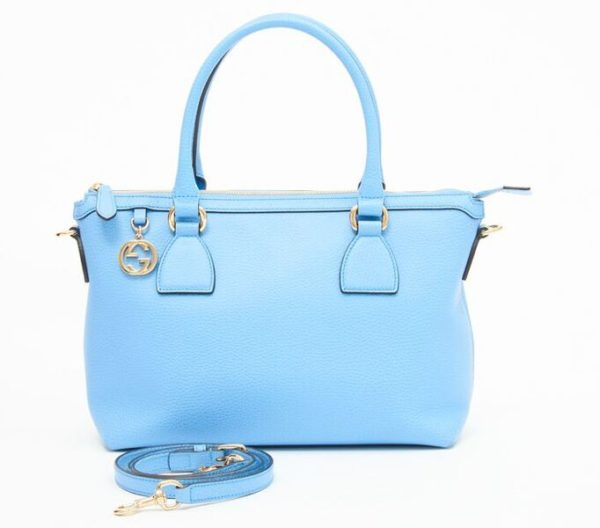 DesignerShare Gucci Charmy Zip Top Tote - Front w/ Detached Strap