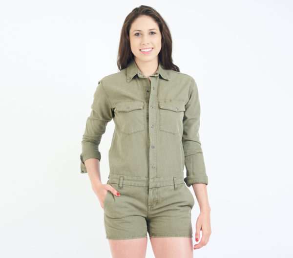 J Brand Avery Utility Romper Front