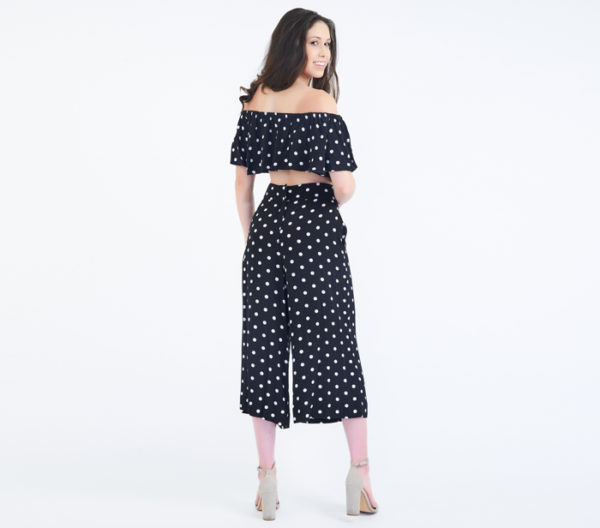 House of Harlow 1960 x Revolve Two-Piece Polka Dot Set Back