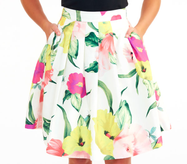 "Ted Baker ""Muirin"" Full Skirt Close Up"