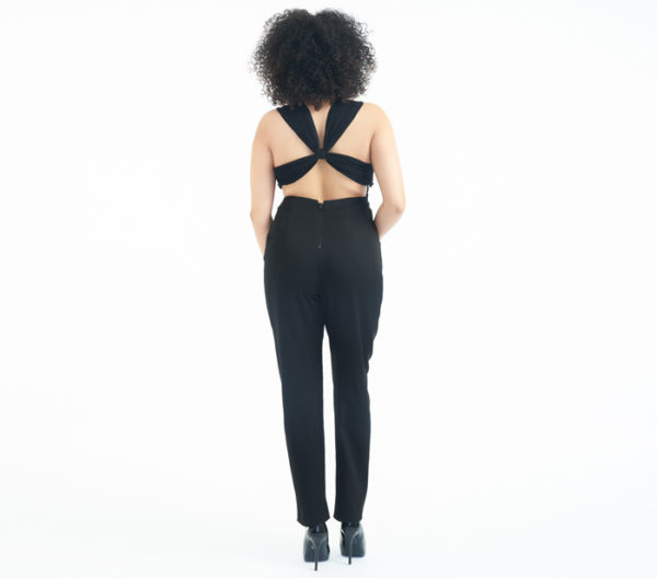 Alice + Olivia Hiloti Open-Back Jumpsuit Back