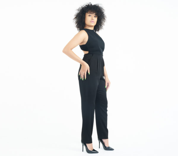 Alice + Olivia Hiloti Open-Back Jumpsuit Side