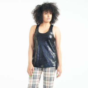 Rag & Bone Sequin Racerback Tank Top