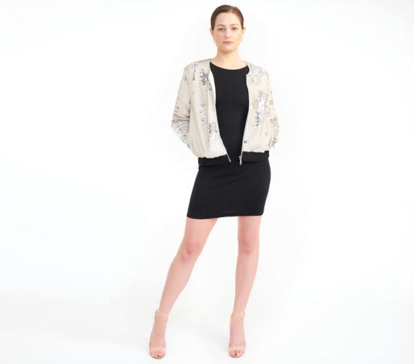 "Rebecca Minkoff ""Julep"" Sequin Jacket Front"