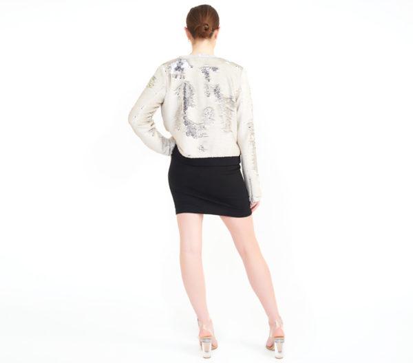 """Rebecca Minkoff """"Julep"""" Sequin Jacket Back"""