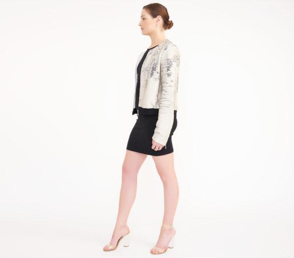 "Rebecca Minkoff ""Julep"" Sequin Jacket Side"