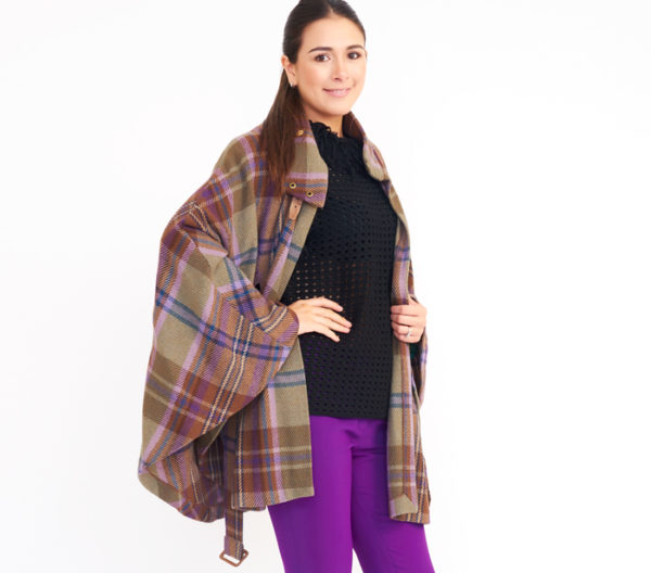 Lauren Ralph Lauren Plaid Cape Coat