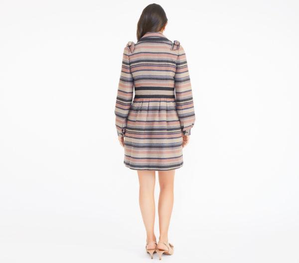 Elevenses Striped Coat Back