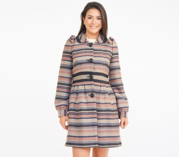 Elevenses Striped Coat
