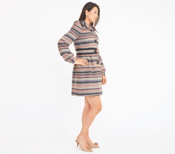 Elevenses Striped Coat Side