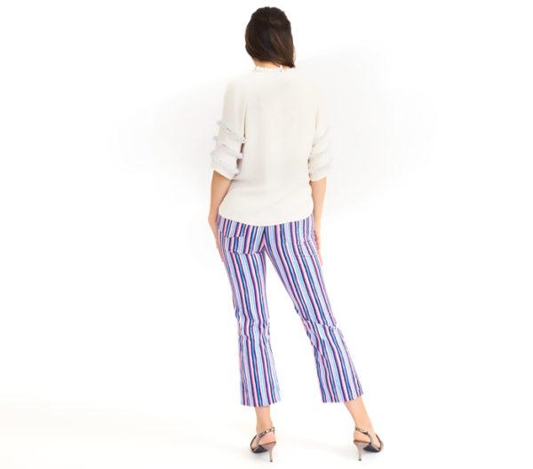 Dolce & Gabbana Business Casual Striped Jean Back
