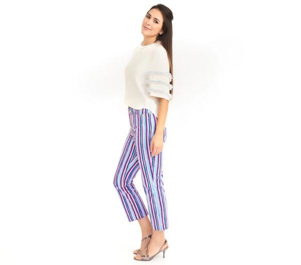 Dolce & Gabbana Business Casual Striped Jean Side