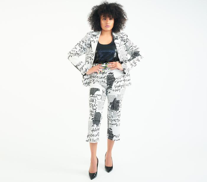 DesignerShare 100% Feminin Paris Two-Piece Pantsuit - Front