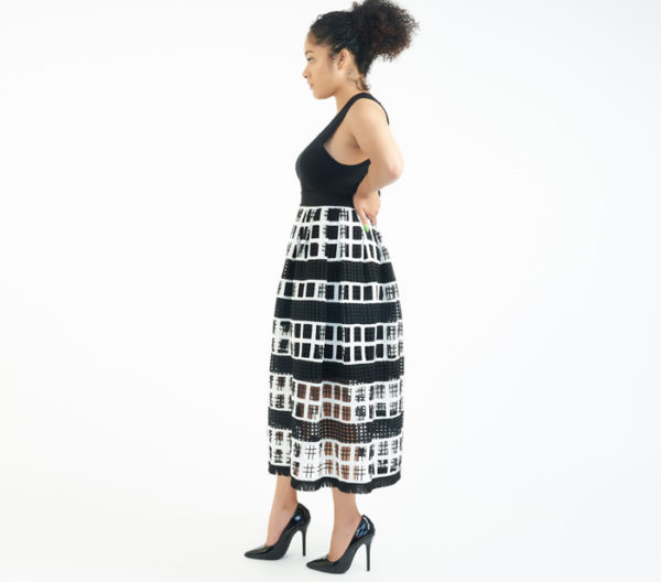 Alexis Modern Two-Layer Skirt Side