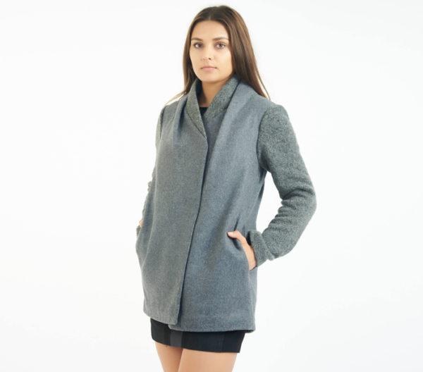 Coat Check Chicago Gray Car Coat